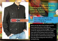 Terminator Genisys Arnold Schwarzenegger #Leather #Jacket #Fans #Movie
