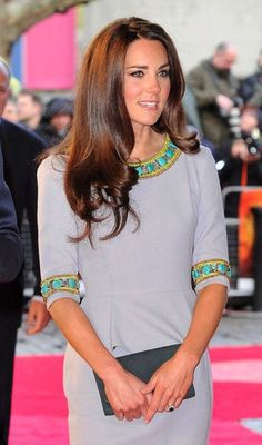 Kate Middleton's dress is lined with turquoise stones