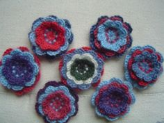 How to make layered crochet flowers.