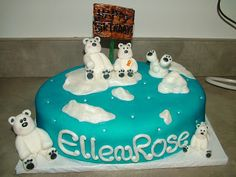 Little Miss Muffins Cakes!: Polar Bear Birthday cake
