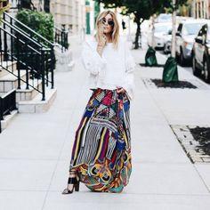 Skirt: tumblr printed pattern maxi top white top fringed top fringes sandals sandal heels high heel