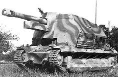10.5cm leFH 16 auf Geschützwagen FCM 36(f) with camouflage livery in France