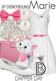 Disney Bound: Marie from Disney's Aristocats (Dapper Day Outfit) Disney Cosplay, Disney Costumes, Disney Themed Outfits, Disney Dresses, Disney Clothes, Dapper Day Outfits, Cute Outfits, Cute Disney, Disney Style