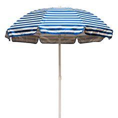 Frankford Umbrellas 6' Lifeguard Striped Solar Reflective Beach Umbrella | AllModern