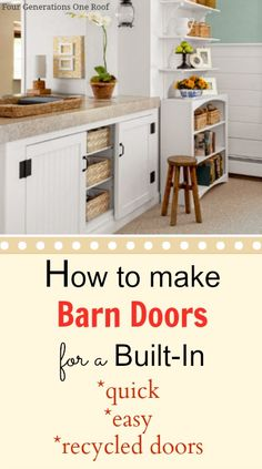 DIY built-in barn doors {tutorial} @Mandy Dewey Generations One Roof