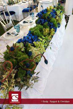 Ideas de bodas / Boda en azul - Mesa de Novios  Raquel & Christian