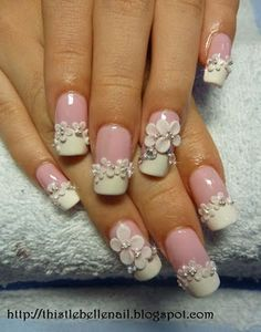 "pink bride < funny caption, i was gonna say ""ohh this will be my wedding nails"