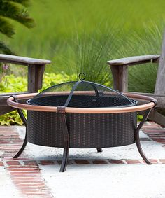 This Copper Rail Fire Pit is perfect! #zulilyfinds