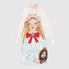 a39d854bc Unskilled Worker silk dress Satin Dresses, Silk Dress, Dress P, Gucci  Outfits,