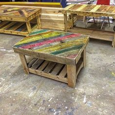 Pallet Revolving Tables, an extra edge of Pallet Ideas