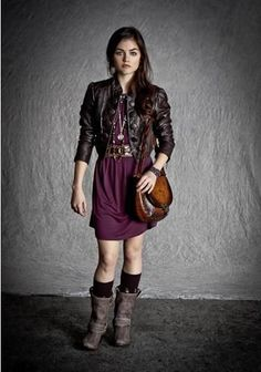 Absolute killer outfit for fall Lucy hale pretty little liars