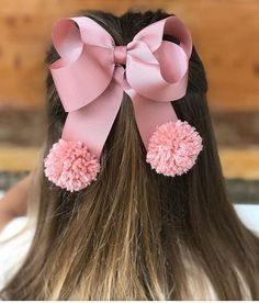 Birthday Felt Bows For Girls. Big Felt Bow With Flowers. Making Hair Bows, Diy Hair Bows, Diy Bow, Ribbon Hair, Ribbon Bows, Felt Bows, Baby Headbands, Baby Bows, Hair Bow Tutorial