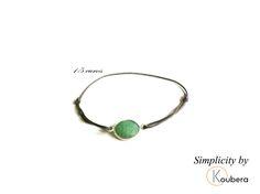 #koubera #accessoire de mode #bijoux #bracelet #pierre #jade #plaqué or #simplicity #mode #femme #2015