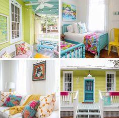 Bright beach house decor