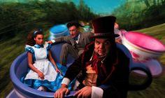Annie Leibovitz's Celebrity Disney Dream Portraits - My Modern Metropolis - Beyoncé, Oliver Platt, and Lyle Lovett as Alice in Wonderland