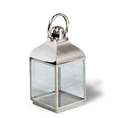 Polished Stainless Steel Lantern   Small