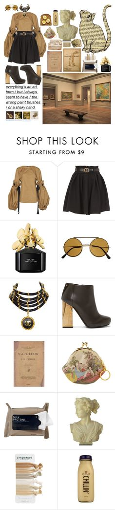 """""""Museum Mood"""" by shelcity ❤ liked on Polyvore featuring Marni, Preen, Marc Jacobs, ZeroUV, Chanel, Lanvin, Edition, Korres, Polaroid and Wallflower"""