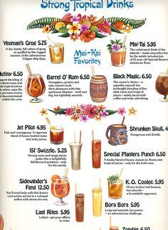 vintage Mai Kai menu -strong drinks