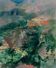 Beautiful landscape painting with a vista, would be gorgeous in a dining room.  'Lost Villages' (2011) by Görkem Dikel