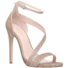 Carvela Gosh Curved Strap Stiletto Sandals, Gold
