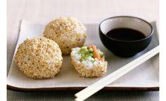 Onigiri : boules de riz au saumon et avocat