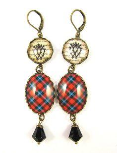 Scottish Tartan Jewelry Ancient Romance Series by DivaDesignsInc https://www.etsy.com/listing/211282554/scottish-tartan-jewelry-ancient-romance