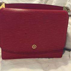 Louis Vuitton shoulder bag. AUTHENTIC Bought in Pars. Red LV SHOULDER OR CROSS BODY. Louis Vuitton Bags Shoulder Bags