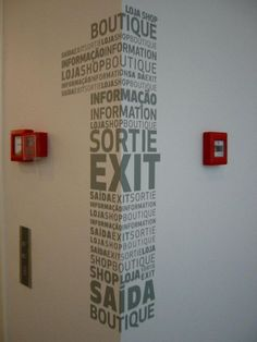 One by riddle, via Flickr   [ excellent signage / señaletica genial ] http://www.trazosproduccion.com
