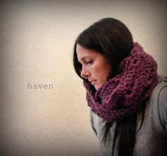 Infinity Scarf/ Cowl/ Chunky/ The Dublin  Fig by havenCo on Etsy, $50.00