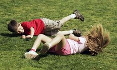 When rolling down the hill was the funnest thing in the world.