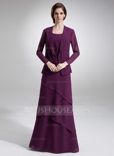 Mother of the Bride Dresses - $136.99 - A-Line/Princess Scoop Neck Floor-Length Chiffon Mother of the Bride Dress With Beading (008006140) http://jjshouse.com/A-Line-Princess-Scoop-Neck-Floor-Length-Chiffon-Mother-Of-The-Bride-Dress-With-Beading-008006140-g6140
