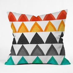 Elisabeth Fredriksson Nordic Peaks Throw #Pillow | #DENYDesigns #Home Accessories