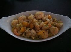 Sauté Shrimp with sweet cherry tomatoes, garlic and green onions. WW ...