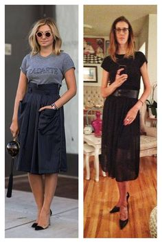 Day 4 of the VSL Pinterest Project! Understated chic is the name of the game this Saturday. No black on black Radarte for me, but a basic black T (which every girl should have in her wardrobe) fits, a bondage belt keeps the waist interesting, as does the peek-a-boo sheer skirt. Keep the shoes classic, and the eye glasses fun. Bring it on Sunday, I've got this handled.