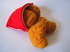 Pépites de poulet aliments feutre set eco par FeltFoodTruck sur Etsy