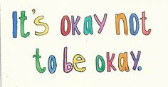 It's okay not to be okay. Let yourself be vulnerable and open up to those who love you. You are worthy of support and healing. #depression #recovery #depressionrecovery