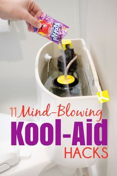 I would have never thought Kool-Aid would become a household staple and my go-to cleaning product! These Kool-Aid hacks blew my mind! From dying eggs to dying hair, to fixing leaks and cleaning your toilet. Kool-Aid is my new favorite product! Household Cleaning Tips, Deep Cleaning Tips, Toilet Cleaning, House Cleaning Tips, Diy Cleaning Products, Cleaning Solutions, Spring Cleaning, Cleaning Hacks, Cleaning Recipes