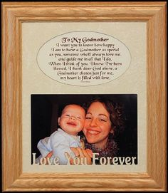 8x10 oak picture photo lightmedium frame to my godmother poem a wonderful gift