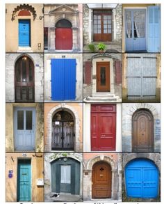 Found these photos on Bistro Chic. They're all in Provence - French doors and Caribbean doors are the best!