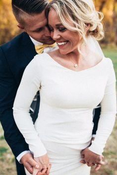 modest wedding dress with long sleeves from alta moda. Elegant Wedding Dress, Modest Wedding Dresses, Perfect Wedding Dress, Pretty White Dresses, Creative Wedding Ideas, Creative Ideas, Wedding Crashers, Wedding Pinterest, Wedding Bells