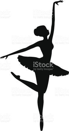 Energetic Ballerina Dancer Silhouette royalty-free stock vector art