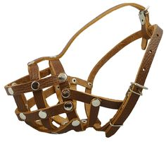 Secure Leather Mesh Basket Dog Muzzle no.17 Brown - Spaniel, Poodle, Schnauzer (Circumference 9.5', Snout Length 2.5') -- Click image to review more details. (This is an affiliate link and I receive a commission for the sales) #Doggies