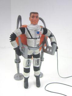 Love vintage space toys from the sixties! Mattel 1969 Major Matt Mason Astronaut Figure & Talking Flight Back Pack 2pc Set #Mattel, www.Connectibles.net