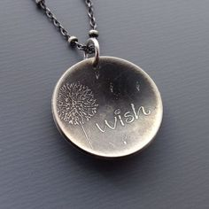 Silver jewelry- truly one of my favorite memories from childhood is blowing dandelion flowers to make a wish. love this!
