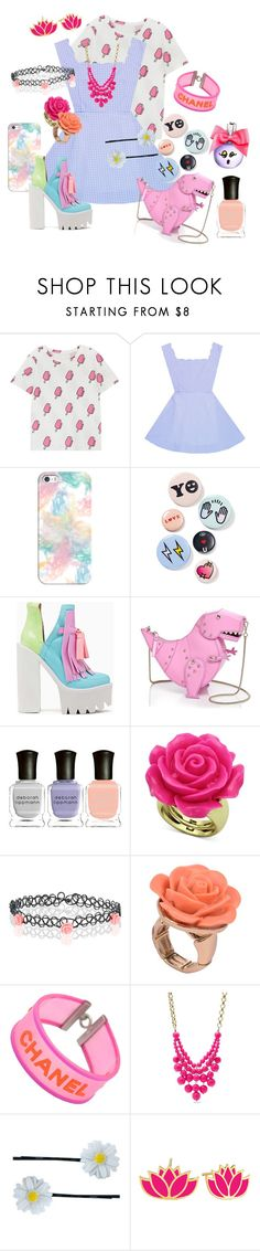 """Bright & Pastel"" by mongryong ❤ liked on Polyvore featuring Casetify, Bing Bang, Jeffrey Campbell, Kate Spade, Deborah Lippmann, Accessorize, Lori's Shoes, Chanel, FOSSIL and Clips"