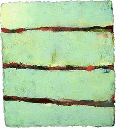 'Effluence I'  2004  Encaustic on Panel