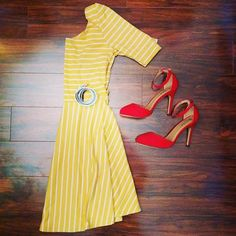 Arianna lays down our Colorful Confidence Dress!