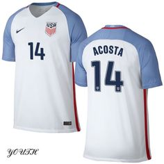 16/17 Kellyn Acosta Youth Home Jersey #14 USA Soccer