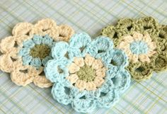 Want to learn how to crochet a flower? Check out this beautiful Japanese Flower Motif. Only using a little bit of yarn, this crochet flower pattern is the perfect yarn stash buster project.