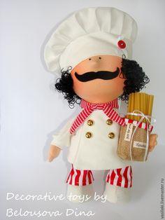 Купить Итальянский повар - разноцветный, повар, поваренок, кулинарный, кулинарный сувенир, усы, макароны, подарок